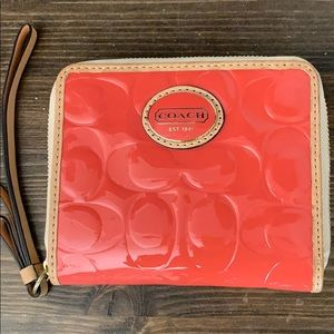 Coach Coral Patent Leather Wallet